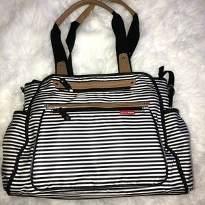 Skip hop striped baby bag